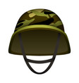 modern camo army helmet mockup realistic style vector image