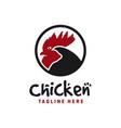 modern chicken logo design vector image vector image