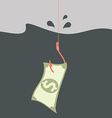 Money concept Money on hook vector image vector image