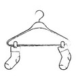 monochrome blurred silhouette of pair of socks in vector image