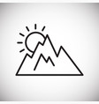 mountain line icon for graphic and web design vector image