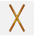 ninja fighting stick icon cartoon style vector image
