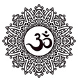 Om or Aum Indian sacred sound original mantra a vector image vector image