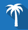 palm tree icon with long shadow vector image vector image