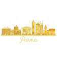 parma italy city skyline golden silhouette vector image vector image