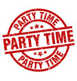 party time round red grunge stamp vector image vector image