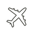 plane icon line airplane symbol vector image