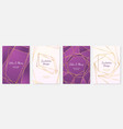 polygonal frames wedding invitation fashion vector image vector image