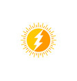 power sun logo icon design vector image
