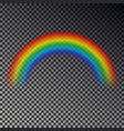 rainbow arc isolated on checkered background tran vector image vector image
