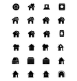 Real Estate Solid Icons 5 vector image vector image
