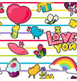romantic love seamless pattern vector image