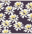 seamless floral background with daisy flowers vector image vector image