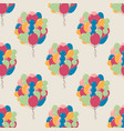 seamless pattern with color balloons vector image vector image