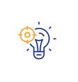 seo idea line icon web targeting sign traffic