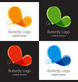 Set of colorful butterfly logo template
