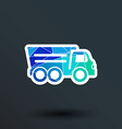 tipper truck building icon button logo symbol vector image vector image