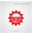 Umbrella sign and gear icon vector image vector image