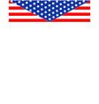 us flag decorative frame vector image vector image
