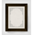Vintage frame with wooden frame