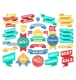vintage label banner tag sticker badge set vector image vector image