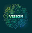 vision round colorful linear modern vector image