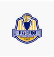 volleyball club badge logo-5 vector image vector image