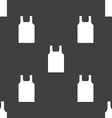 Working vest icon sign Seamless pattern on a gray vector image