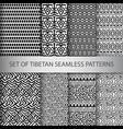 collection of pixel seamless patterns vector image