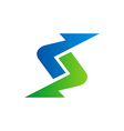 arrow abstract direction logo vector image vector image