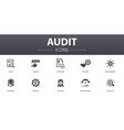 audit simple concept icons set contains such vector image vector image