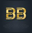 b and - initials or golden logo bb - metallic