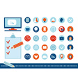 Back to school flat design School icon set on a vector image