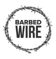 barbed wire in circular shape for fence vector image