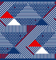 blue and white stripes geometric seamless pattern vector image