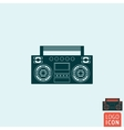 Boombox icon isolated vector image vector image