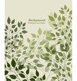Branches and leaves vector image vector image