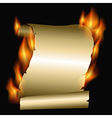 burning scroll vector image
