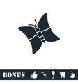 Butterfly icon flat vector image vector image