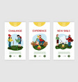 camping vertical banners vector image vector image