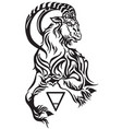 capricorn earth sign tattoo vector image vector image