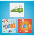 Cards on discounts vector image