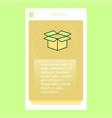 carton mobile vertical banner design design vector image vector image