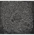 Cartoon doodles cafe coffee shop background vector image vector image