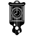 clock old retro vintage icon stock vector image vector image