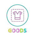 clothing sign linear outline vector image vector image