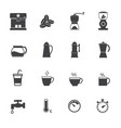 coffee maker icons set flat design for infographic vector image vector image