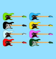 collection set of different color electric rock vector image