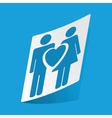 Couple in love sticker vector image vector image