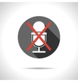 Crossed microphone icon vector image